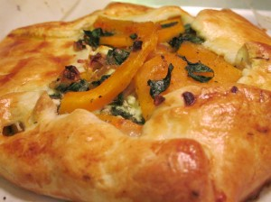 Butternut Squash, Spinach, and Goat Cheese Tart