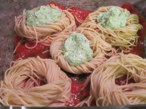 Twist and Fill Spaghetti Bird's Nests