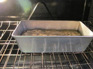 Banana Bread in the Oven