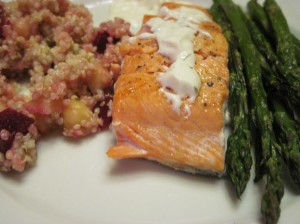 Sunday Night Supper: Quinoa, Salmon, and Asparagus