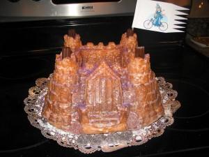 Princesses on Bikes Castle Cake