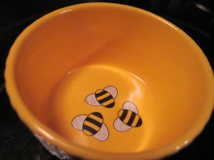 Ramekin with Bees