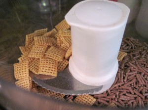 Cereal in the food processor: Chex and Trader Joe's High-Fiber cereal