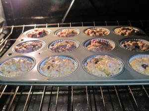 Adjust the oven temp based on your muffin tin color.