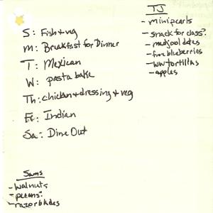 Weekly Menus: 3/6/2011