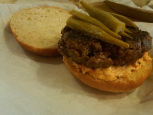 Pimento Cheese Burger at Bull City Burger