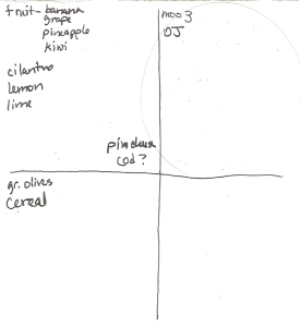 Four-Square Grocery List: 4/17/2011