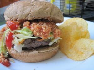 Practical Carolina-Style Burger with Slaw