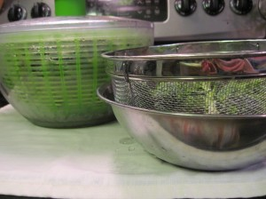 Colander, Salad Spinner, Metal Bowl