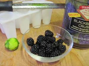 Denuded Lime, Blackberries, Trader Joe's Blackberry Juice