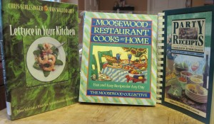 Lettuce in Your Kitchen, Moosewood Restaurant Cookbook, Charleston Party Receipts