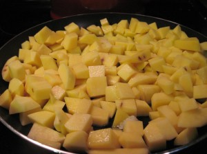 Yukon Golds in the Skillet