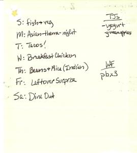Weekly Menus: 6/5/2011