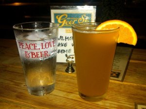 Beer and Hydration at Geer Street Garden