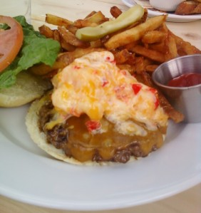 Pimento Cheese Burger at Geer Street Garden