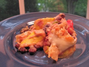 Mexican Squash Casserole Is Served