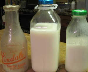 Milk Bottles Old, New, and Buttermoo
