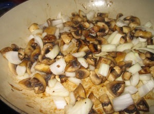 Browned Mushrooms with Onion