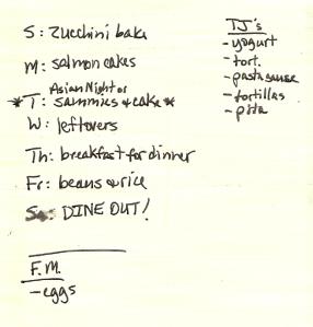 Weekly Menus: 7/24/2011