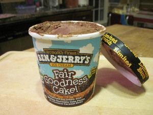 Ben and Jerry's Fair Goodness Sake Ice Cream
