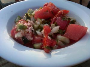 Watermelon Salad at The Eddy
