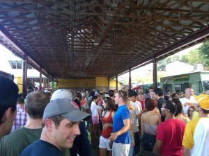 Durham Food Truck Rodeo Mob Scene