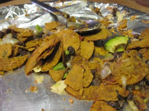 Flying Mayan Nachos After (utter destruction, all beans consumed)