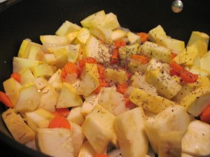 Vegetables Sauteing in Thyme