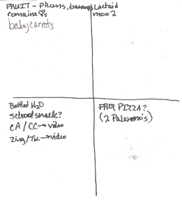 Four-Square Shopping List: 8/28/2011