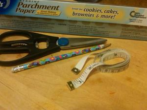 Kitchen Toolbox: Scissors, Pencil, and Measuring Tape