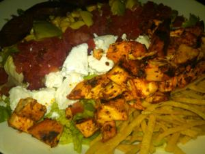 Cobb Salad from Dos Caminos, with Chicken and Chorizo