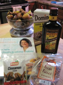 Prepping for Fig Cake from The New Southern-Latino Table
