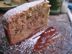 Pecan Rum Cake with Figs