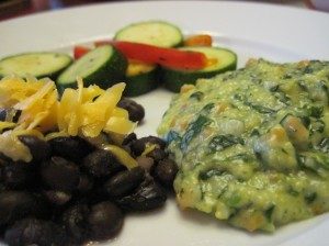Polenta with Black Beans and Zucchini