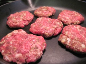 Sausage-Burgers in the Pan