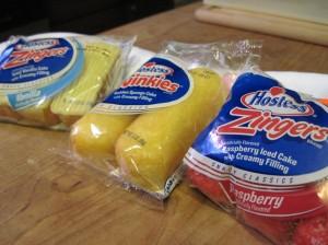 Snack Cake Smackdown: Vanilla Cream Zingers, Twinkies, Raspberry Coconut Zingers