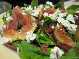 Layers of Flavor: Add Goat Cheese and Prosciutto to Figs and Arugula