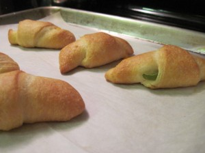 Spicy Crescent Rolls on the End!