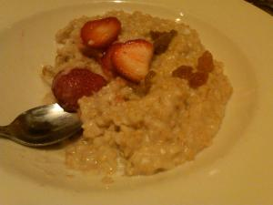 Oatmeal with Strawberries at Grand Luxe Cafe
