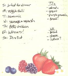 Weekly Menus for 9/18/2011