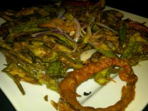 Picky People Okra: Bhindi at Saffron Chapel Hill
