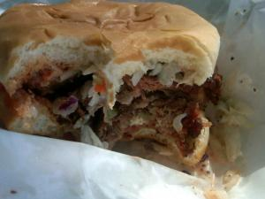 Pork Barbecue (as if there's more than one in NC) Sandwich from Pik-N-Pig, Winner!
