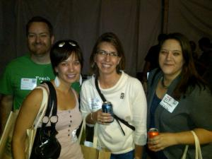 Deep Fried Friends (Left to Right): @carterhcrain @yelpnctriangle @charityjen @FoodBankJenC