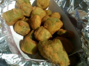 Deep Fried Okra from the Farmer's Market Wagon: Group Favorite!