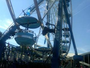Ferris Wheel: We got the Carolina Blue car, much to the joy of the Eldest.