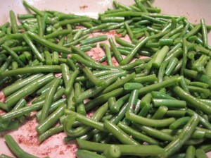 Green Beans Steam-Frying