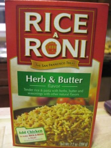 "Rice-A-Roni Herb and Butter ""Flavor"""