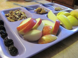 Apple Snack Tray with Peanut Butter and Maple Butter