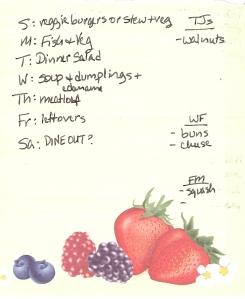 Weekly Menus: 10/23/2011