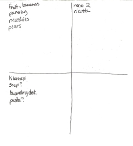 Four-Square Grocery List: 10/23/11